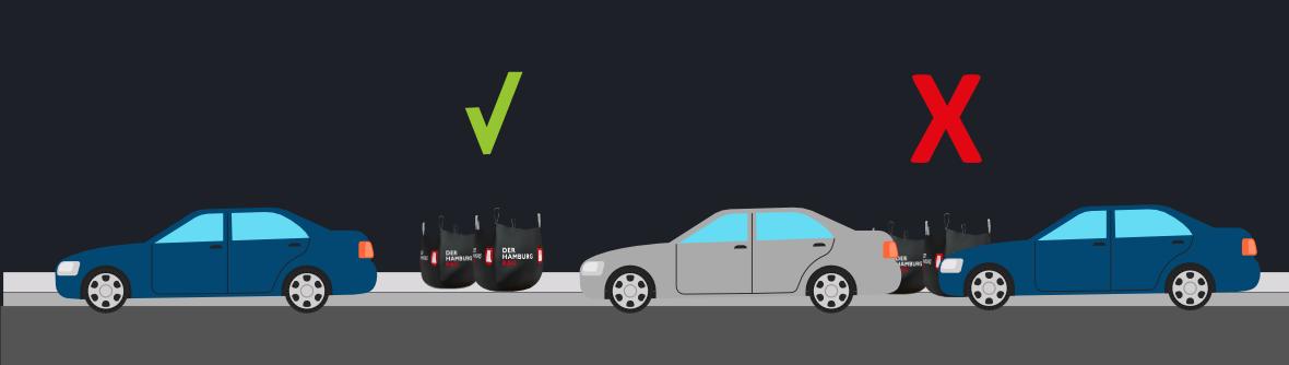 Big Bag darf nicht über Autos gehoben werden