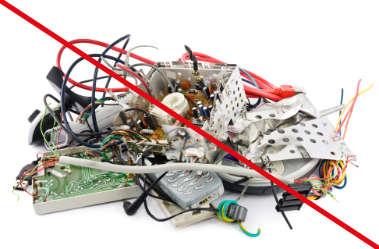 elektroschrott darf nicht in einem Big Bag entsorgt werden